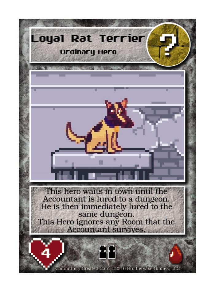 Loyal Rat Terrier - Custom Card
