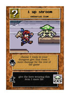 1 Up Shroom - Custom Card