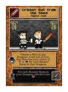 Cricket Bat From The Shed - Custom Card
