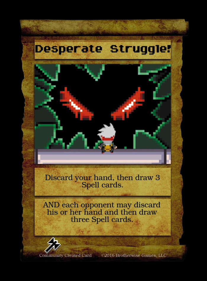 Desperate Struggle! - Custom Card