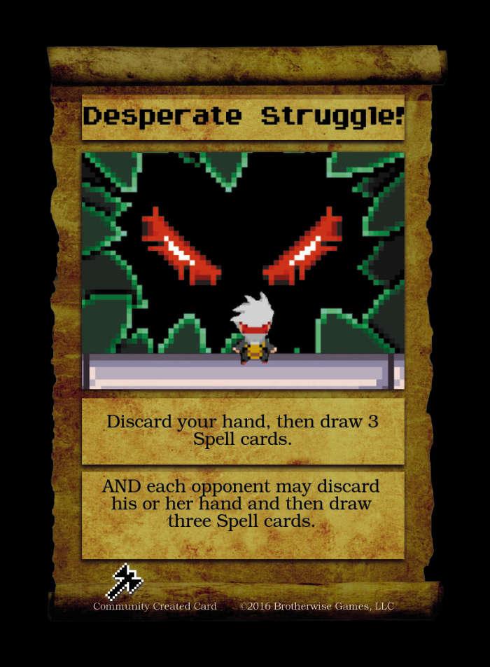 Desperate Struggle! - Custom Card