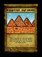 Egyptian Pyramids - Custom Card