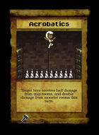 Acrobatics - Custom Card