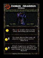 Demon Abaddon - Custom Card