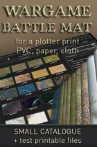 Battlemats files Catalogue + test printable files