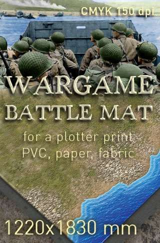 Battle mat (032) Coastal plain - WargamePrint | Battlemats | Wargame Vault