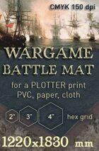 Battle mat (055) Sea plain with hex grid