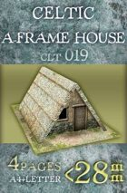 Celtic (gallic) A-frame house (clt019)