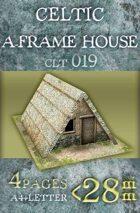 Celtic (gallic) A-frame house (clt019)
