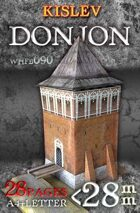 Kislevite Donjon (whfb090). Paper scenery models.