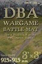 DBA Battle mat (014sr) Grass Plain Road