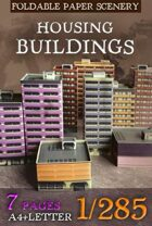 Housing buildings 1/285 (6mm)