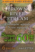 River (Brown) stream (60mm)