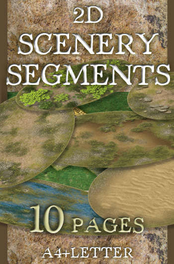 2D Scenery Segments - WargamePrint   DBA   Russian Village   The Celtic  (Gallic) Village  28 mm, 1/72, 15 mm, 6mm scale   DriveThruRPG com