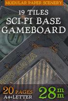 Sci-Fi Base Tiles Wargame Modular 2D Paper Scenery