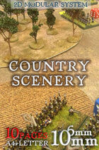 2D Country wargames scenery kit (scale 6mm/10mm)