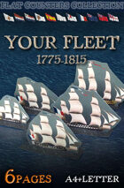 Your Fleet 1775-1815. Double-sided counters collection.