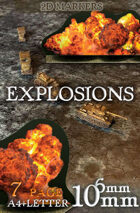 Explosions Markers (scale 6mm & 10mm)