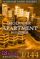 Modular Apartment Buildings set 1/144 (btb11_10)