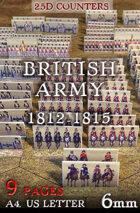 "British Army 1812-1815 (""6mm""). 2,5d Modular Wargames System"