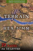 Terrain (Hex 57mm). 2,5d Modular Wargames System