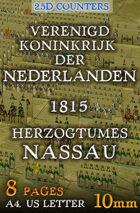 "Dutch-Belgian and Nassau armies 1815 (""10mm""). 2,5d Modular Wargames System"