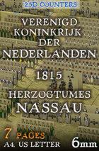"Dutch-Belgian and Nassau armies 1815 (""6mm""). 2,5d Modular Wargames System"