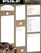 Pulp Fantastic Character Sheet