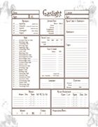 Gaslight Savage Worlds Character Sheet