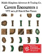 Adventure Map Tiles: Cavern Encounters Tiles Set 1