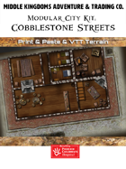 Modular City Kit: Cobblestone Streets