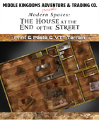 Modern Map Tiles: House At The End Of The Street