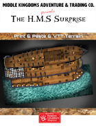 High Seas Map Tiles: The H.M.S. Surprise
