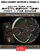 Sci-Fi Map Tiles - Battleship 7681: The Bridge
