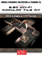 Sci-Fi Map Tiles - 2.5D and VTT Modular Tiles: Set 1