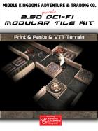 Sci-Fi Map Tiles - 2.5D and VTT Modular Tiles: Set 1