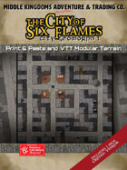 KwikTiles: The City of Six Flames: City Geomorph 1