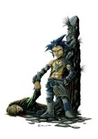 RPG Fantasy Character, Male, Halfling Thief