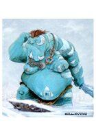 RPG Fantasy Creature, Male, Snow Troll
