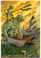 Fantasy Illustration, Goblin and Orc