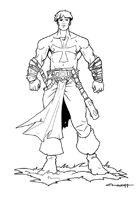 RPG Fantasy Character, Male, Human Paladin