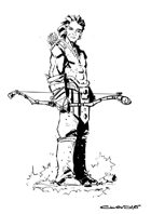 RPG fantasy Character, Male, Human Ranger