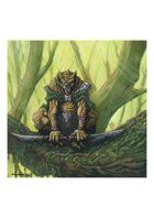 RPG Fantasy Creature, Male, Gnoll Ranger