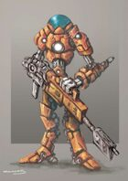 RPG Sci-Fi Character, Robot/Armor Suit