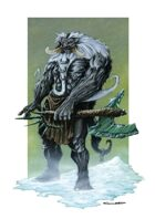 RPG Fantasy Creature, Snow Guardian