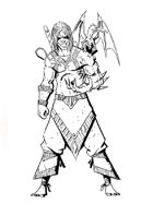 RPG Fantasy Character, Male, Human Evil Wizard