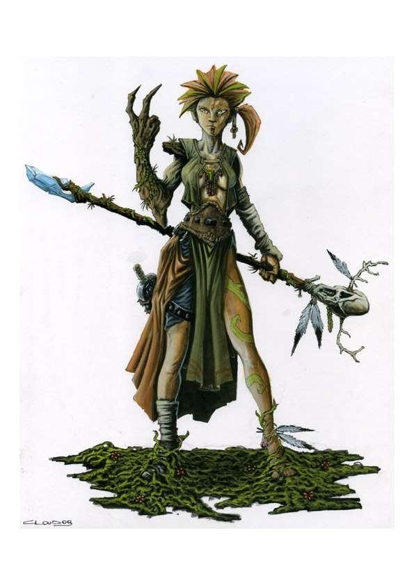 Rpg Fantasy Character Female Elf Druid Claudio Casini