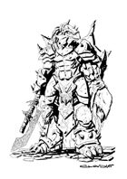 RPG Fantasy Character, Male, Dragonids Warrior