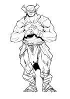 RPG Fantasy Character, Male, Minotaur Monk