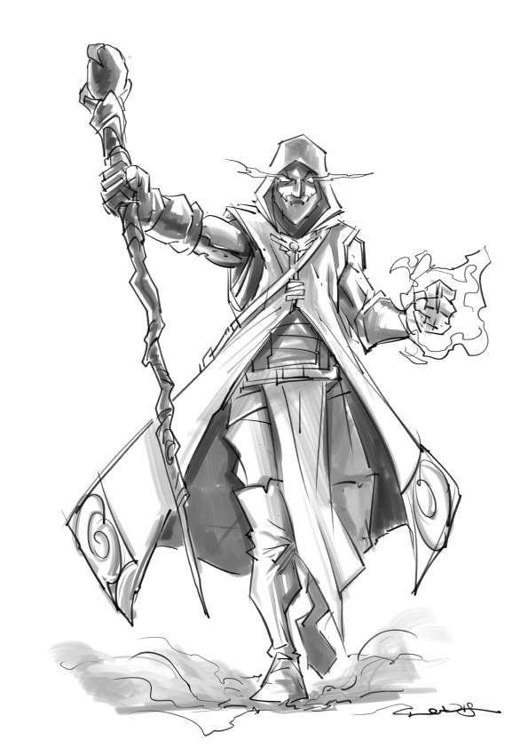 Rpg Fantasy Character Male Human Wizard Claudio Casini Art Drivethrurpg Com